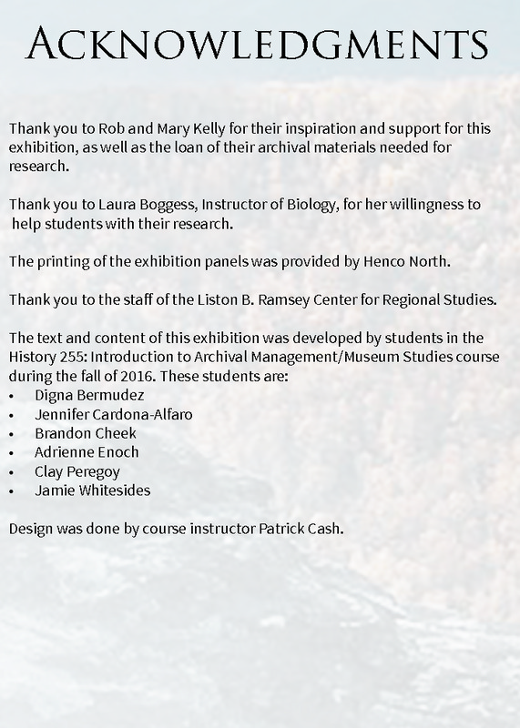 Bluff Mountain Acknowledgment Panel